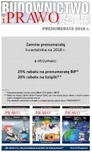 BUDOWNICTWO I PRAWO (kwartalnik) - PRENUMERATA NA 2018 rok