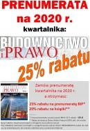 BUDOWNICTWO I PRAWO (kwartalnik) - PRENUMERATA NA 2020 rok